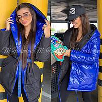 Модная Куртка Женская Двухсторонняя зимняя