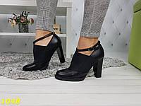 Туфли на устойчивом каблуке на резинке