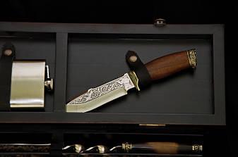 """Статусний подарунок чоловікові - набір для шашлику """"Huntsman люкс"""" у футлярі з дерева, фото 2"""