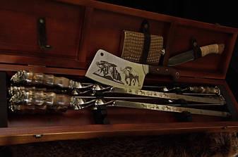 """Солидный подарок мужчине - набор для пикника """"Саванна люкс"""" в футляре с лазерной гравировкой, фото 2"""