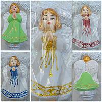 Ангелочек - верхушка на елку, материал - пластик, выс. 21 см., 65/50 (цена за 1 шт. + 15 гр.), фото 1