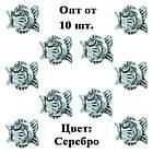Бусина Шарм Рыба, Металлическая, Цвет: Серебро, Размер: 12*14*9 мм., Отверстие 5 мм. Бусина в стиле Пандора, фото 5
