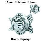 Бусина Шарм Рыба, Металлическая, Цвет: Серебро, Размер: 12*14*9 мм., Отверстие 5 мм. Бусина в стиле Пандора, фото 6