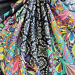 10781-18, павлопосадский платок хлопковый (батистовый) с подрубкой, фото 7