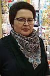 Соловушка 1893-10, павлопосадский платок шерстяной  с шелковой бахромой, фото 4