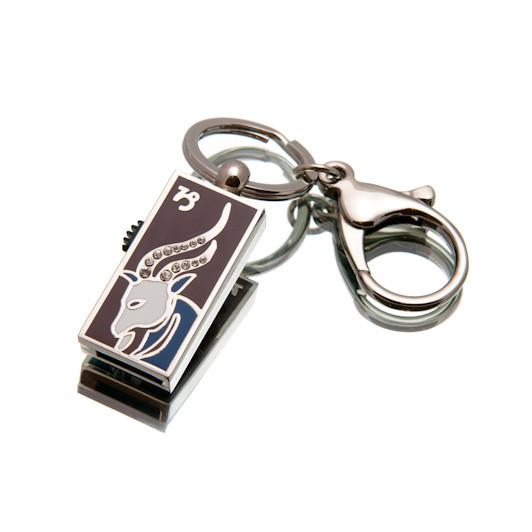 """Ювелирный флеш-накопитель """"Козерог"""", 32Гб, серебристый цвет (03204B32ГБ)"""