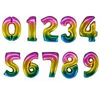 Фольгированные радужные цифры