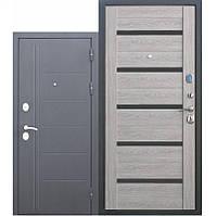 Входная дверь 10 см Троя Серебро/Дымчатый Дуб Царга 90 x 860 x 2050 mm