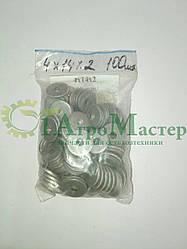 Шайба алюминиевая уплотнительная 4х14х2,0  Упаковка 100 шт.