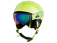 Горнолыжный шлем + горнолыжные очки Quiksilver Game Pack Lime Green / Moam Tatt (GJZ3) 2019, фото 1
