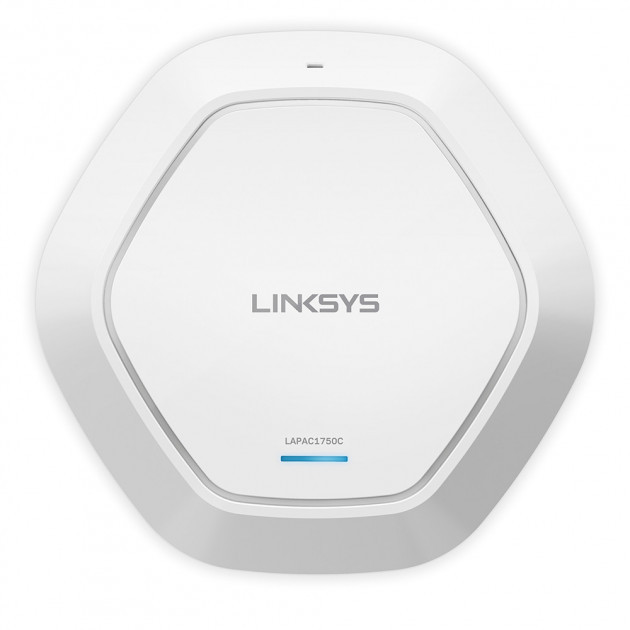 Точка доступа Linksys LAPAC1750C-EU CLOUD DUAL BAND WiFi ACCESS POINT with PoE+, AC1750