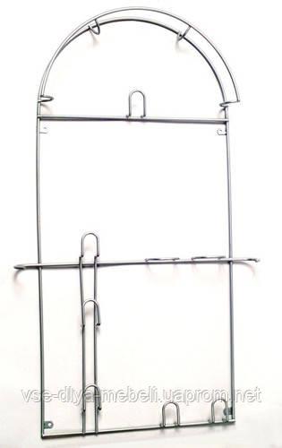 Вешалка для пылесоса большая, лакированая серый(шир.-338мм; h-675мм)(Е.)