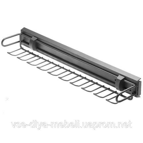 Вешалка для ремней и галстуков, ГРАФИТ без направляющей GTV (W-WKRP-BP-60))