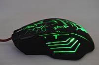 Игровая мышка X7 4800 dpi с подсветкой LED USB 2.0 GAMING MOUSE, фото 3