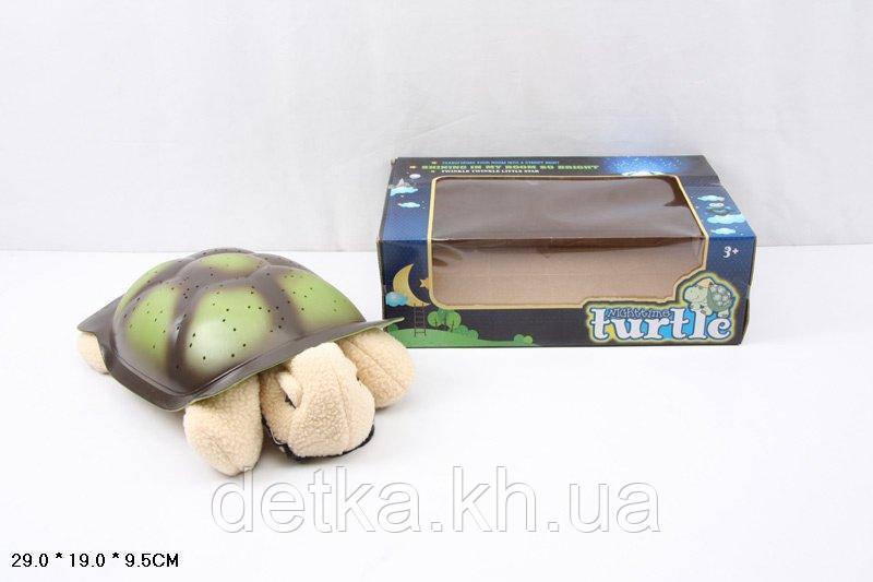 Ночник 007 черепаха-проектор звездного неба батар.свет