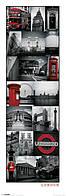 "Постер / Плакат ""Лондон (Коллаж) / London (Collage)"""