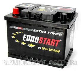 Аккумулятор автомобильный EUROSTART 60 (L +) Безплатная доставка