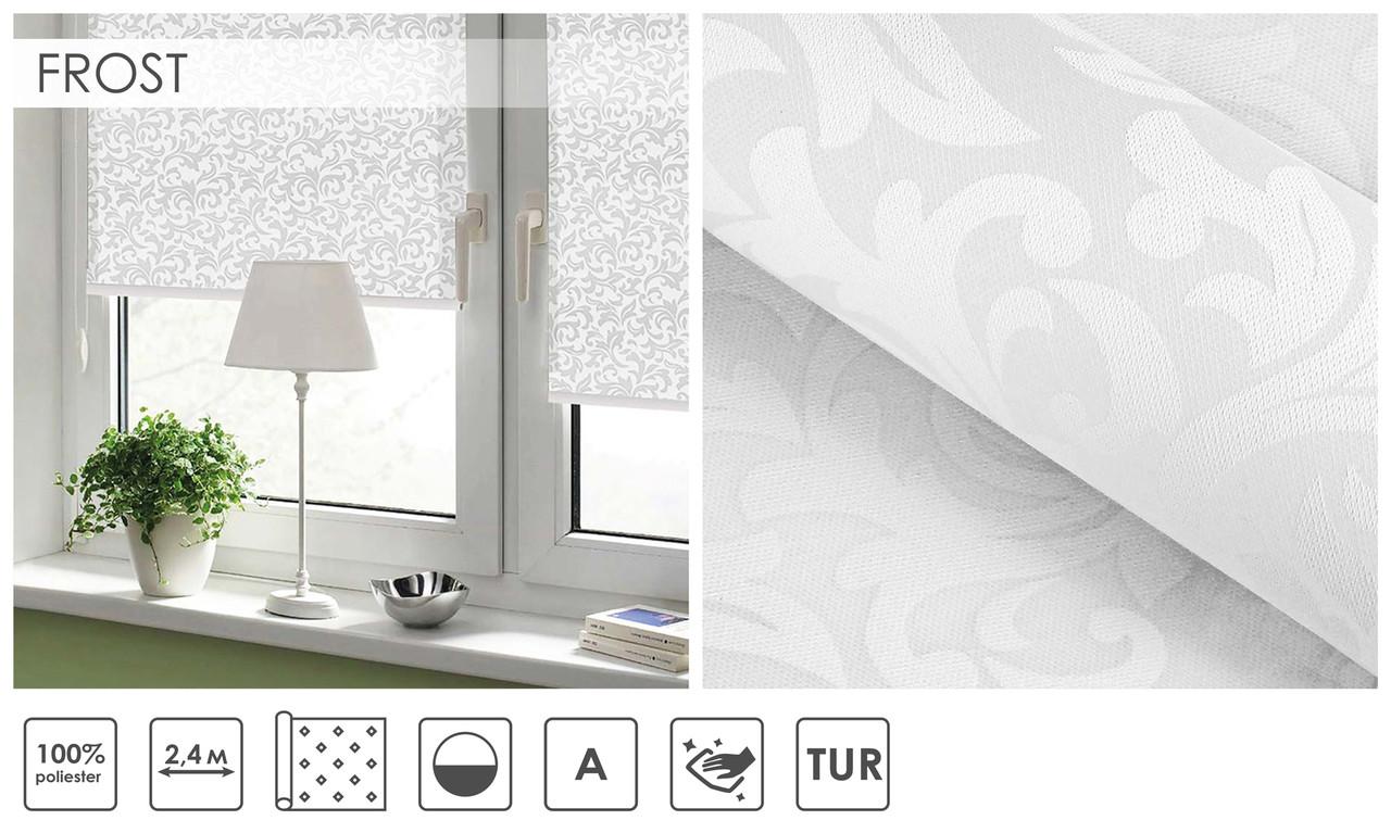 Рулонні штори Frost (один варіант кольору)