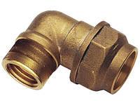 """Фитинг зажимной 25 мм угловой для полиэтиленовой ПНД трубы 3/4"""" REMER"""
