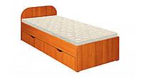Кровать Пехотин Соня 1 с ящиками Ольха