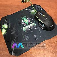 Игровая мышка Keywin MMX-07 с ковриком 3200 dpi подсветка USB 2.0 геймерская мышь и компьютерная черная
