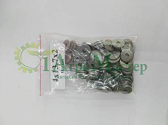 Шайба алюминиевая уплотнительная 4х13,7х2,0  Упаковка 100 шт.