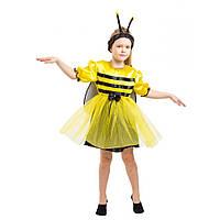 Костюм Пчелки 4-8 лет Детский новогодний карнавальный костюм Пчела для девочки 342