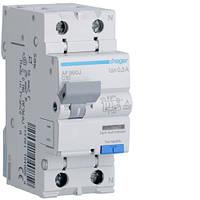 Дифференциальный автоматический выключатель Hager (ДАВ) 1P+N 6kA C-10A 300mA A (AF960J)