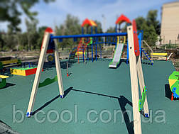 Резиновое покрытие Teking Kids Color для детских площадок, фото 3