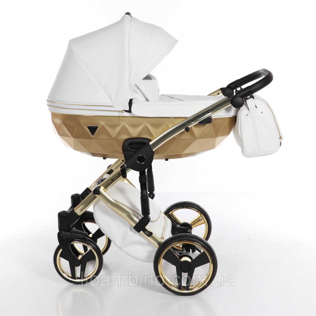 Дитяча універсальна коляска 2 в 1 Junama Mirror Satin 06