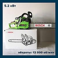 Бензопила Bosch GA52L ( Пила бензиновая Бош GA52L ) 2х-тактная, 45 см шина 5.2 кВт!