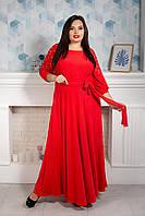 Роскошное макси платье красного цвета р 50,52,54,56,58,60,62 красный