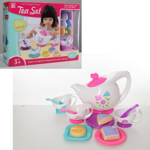 Посуда игровая чайный сервиз на 3 персоны и сладости SK20A 14 предметов