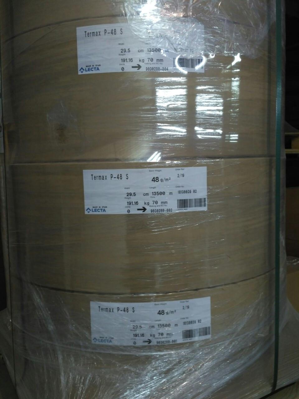 Термобумага в ролях формат 295 мм х 13500 м