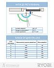 Протипожежний дверний доводчик RYOBI 2000 D-2055V GREY_ANTHRACITE BC UNIV_ARM EN_3/4/5 до_100кг 1250мм FIR, фото 2