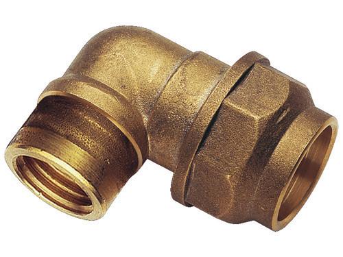 """Фитинг зажимной 50 мм угловой для полиэтиленовой ПНД трубы 1 1/2"""" REMER"""