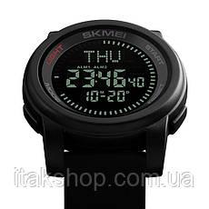 Спортивные часы Skmei 1289 Compas с компасом водонепроницаемые Черные, фото 2