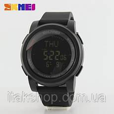 Спортивные часы Skmei 1289 Compas с компасом водонепроницаемые Черные, фото 3