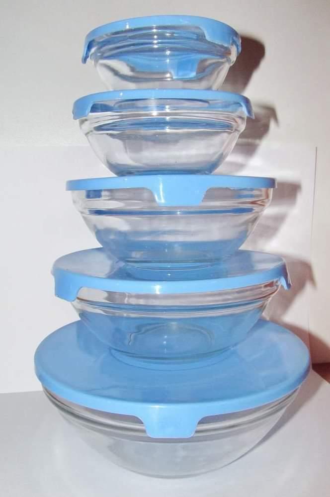Набор стеклянных ёмкостей с крышкой