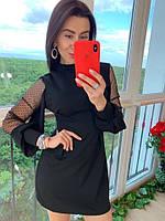 Платье чёрное с сеткой, фото 1
