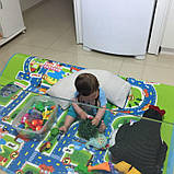 Мягкий детский коврик развивающий город дорога. 1.6м*1.3м, фото 2