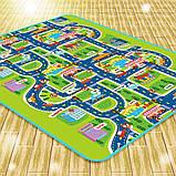 М'який дитячий розвиваючий килимок місто дорога. 1.6 м*1.3 м, фото 3