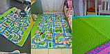 Мягкий детский коврик развивающий город дорога. 1.6м*1.3м, фото 4