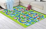 Мягкий детский коврик развивающий город дорога. 1.6м*1.3м, фото 5