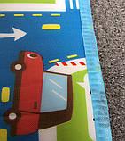 Мягкий детский коврик развивающий город дорога. 1.6м*1.3м, фото 6