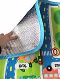 Мягкий детский коврик развивающий город дорога. 1.6м*1.3м, фото 9