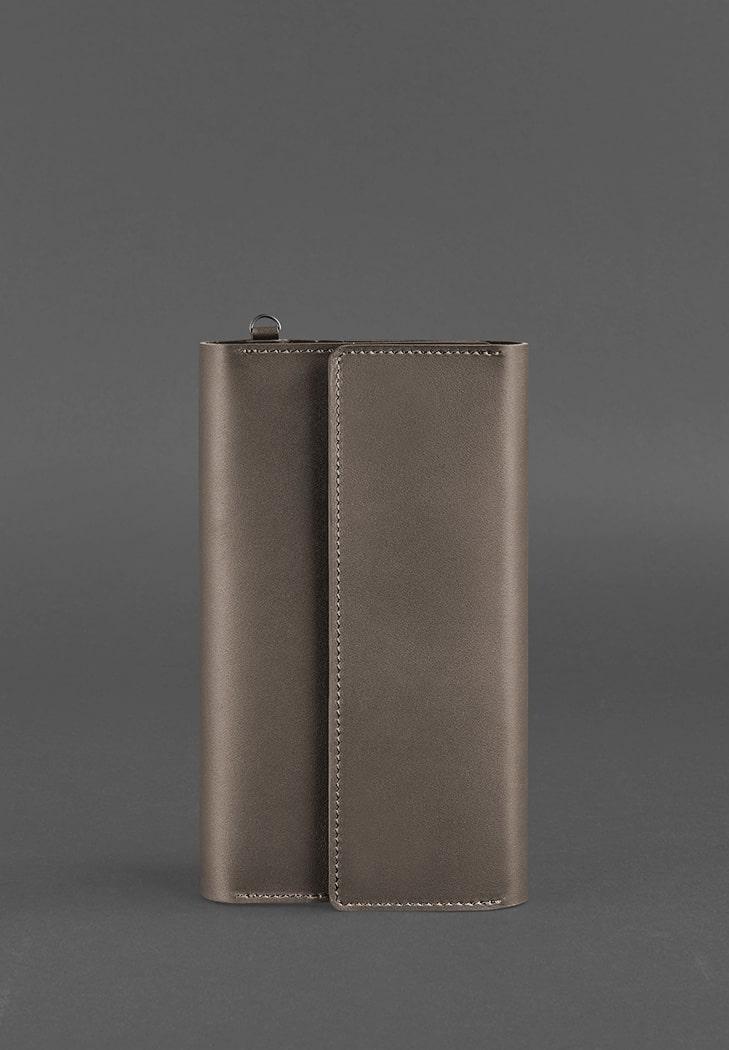 Клатч на кнопках кожаный бежевый (ручная работа) BN-TK-5-1-beige