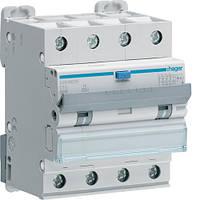 Дифференциальный автоматический выключатель Hager (ДАВ) 4P 6kA C-10A 30mA Hi (ADH460H)
