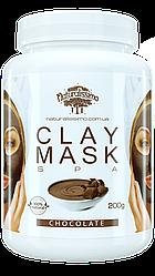 Глиняная маска Омолаживает, увлажняет и смягчает кожу, с шоколадом, 200г