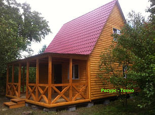 Дачные домики с мансардой